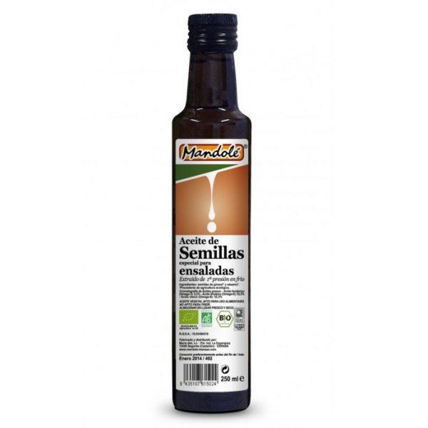 Aceite de Semillas para Ensaladas 1ª P.F. Bio, 250ml. Mandolé