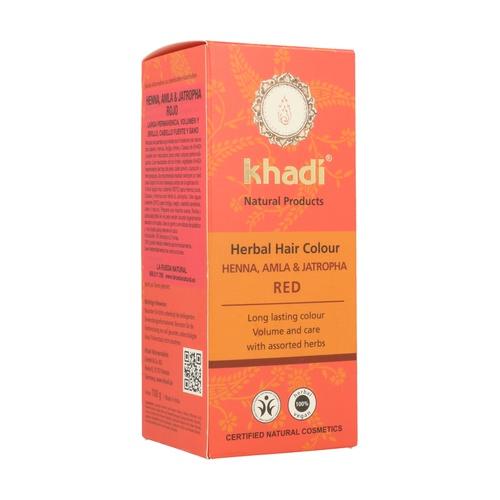 Tinte Herbal Henna, Amla & Jatropha Bio, 100g. Khadi