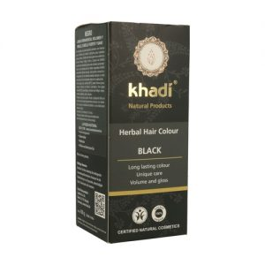 Tinte Herbal Negro Bio, 100g. Khadi