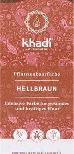 Tinte Herbal Castaño Claro BIO, 100g. Khadi