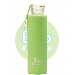 Botella reutilizable Bbo con funda Verde, 550ml. Irisana