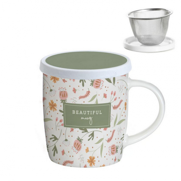 "Taza con filtro Modelo ""Beautiful Verde"""