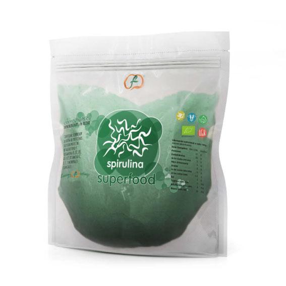 Espirulina En Polvo Bio, 1kg. Superfood