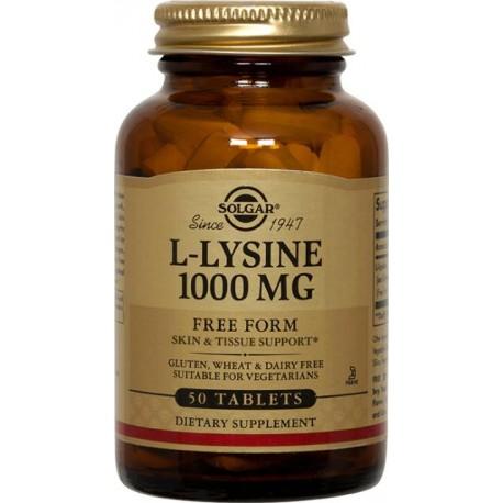 L Lysine Lisina 1000 Mg 50 Tab Solgar
